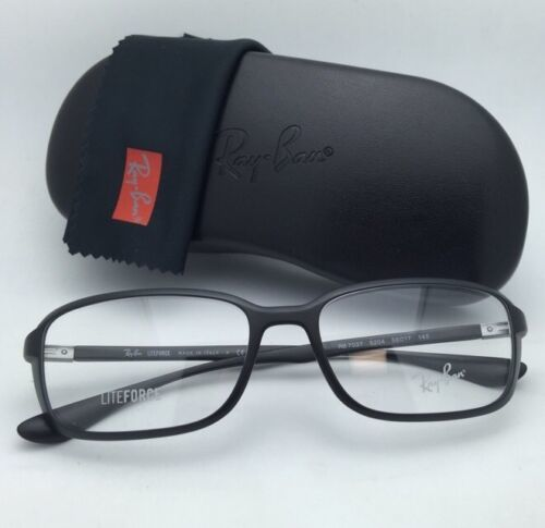 New RAY-BAN Eyeglasses LITEFORCE RB 7037 5204 56-17 145 Matte Black Frames