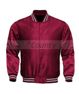 Letterman Baseball College Varsity Quality Bomber Jacket SportsWear Maro... - $49.98+