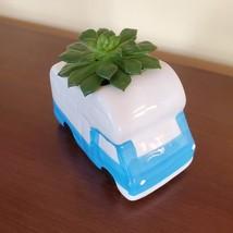 RV Planter with Succulent, Van Life Decor, Vehicle Plant Pot, Sedeveria Letizia image 3