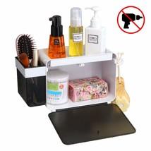 SUPERVIN Adhesive Bathroom Shelf Storage Organizer with Hooks Wall Mount... - $24.33