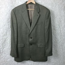 LRL Ralph Lauren Silk Wool 2 Button Sport Coat Jacket Gray Herringbone M... - $56.42