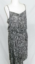 DKNY Jeans Dress M Sundress Black & Gray Wrap Skirt - $15.82