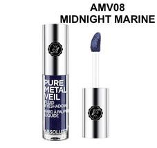ABSOLUTE NEW YORK PURE METAL VEIL FLUID EYESHADOW MIDNIGHT MARINE AMV08 - $2.56