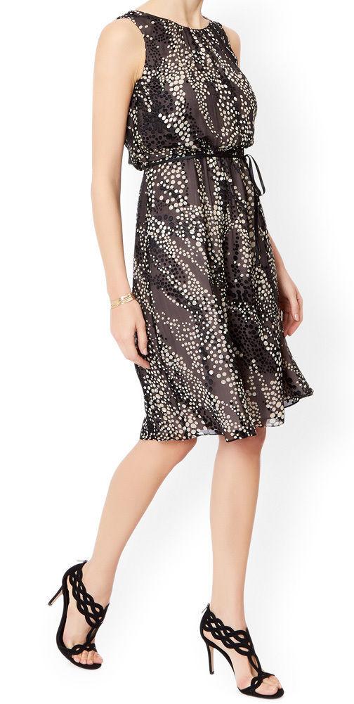 MONSOON Marie Spotted Silk Dress BNWT