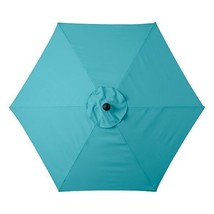 Caribbean Blue 6 Foot Deluxe Patio Umbrella Crank Tilt White or Bronze F... - $123.95