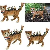 Glitzglam Patrick The Patriotic Miniature Cat And The Happy Gnomes - A F... - $67.99