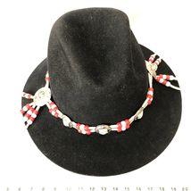 Vtg Western Outback Hat Mens Black Wool Felt Indiana Jones Dorfman Pacific USA  image 6