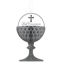 "Amscan 290055 First Communion Honeycomb Chalice Decorations, 12"" x 7.3"", 3 Ct. - $12.82"