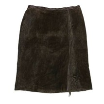 Linea by Louis Dell'Olio Suede Fringe Skirt Plus Size 3X Womens - $31.35