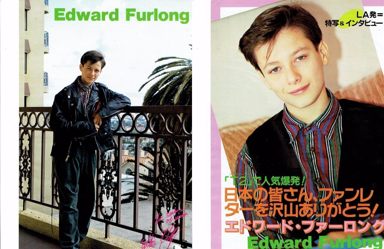 Edward Furlong teen magazine pinup clipping Tiger Beat On a Patio