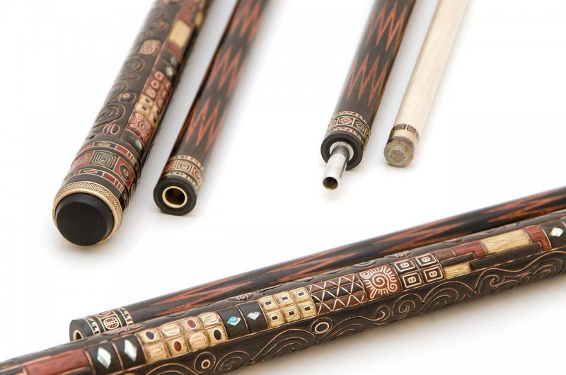 Cue for Russian Billiards Elite Eben, satin crown 12-and the first Klimt