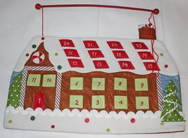 Nantucket Home Gingerbread House Fabric Christmas Countdown Advent Calendar - $12.00