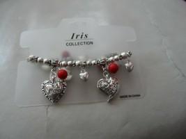 "Iris Collection NEW FASHION JEWELRY ""I LOVE MOM"" HEART stretch BRACELET - $6.50"