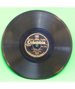 1927 Columbia Black Label Shellac 78 RPM Record, Lucky Lindy PlayRated VG- - $4.95