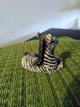 "Miniature Porcelain Zebra, Vintage Japan, Black & White. Approx: 2.5""L x 1 1/4""W image 3"