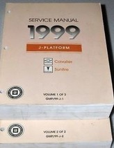 1999 Chevy Cavalier Pontiac Sunfire Service Shop Repair Manual Set 2 VOLUME FEO - $46.28