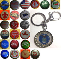 US Air Force Coke Sprite Diet pepsi & more Soda beer cap Keychain