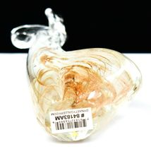 Dynasty Gallery Handmade Amber Swirl Giraffe Glow in the Dark Art Glass Figurine image 6