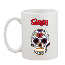 Personalised Sugar Skull Day Of Day  10oz Mug - Your Name Perfect Gift - $8.40