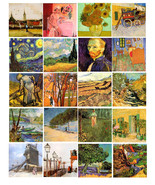 vincent van gogh paintings abstract art collage sheet digital download 2... - $2.99