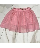ZARA Girls Stretch Waist Pink Tutu Skirt Lined And With Brown Belt Size ... - $8.29