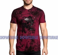 AFFLICTION American Roses A19266 New Men`s Red Black Label Collection T-... - $45.49