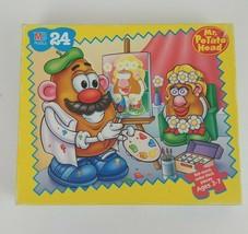 Vintage 1998 Milton Bradley Mr. Potato Head 24 Piece Puzzle 100% Complete - $14.01