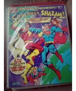SUPERMAN VS SHAZAM Oversized Treasury comic book-DC Bronze and Silver! - $89.99