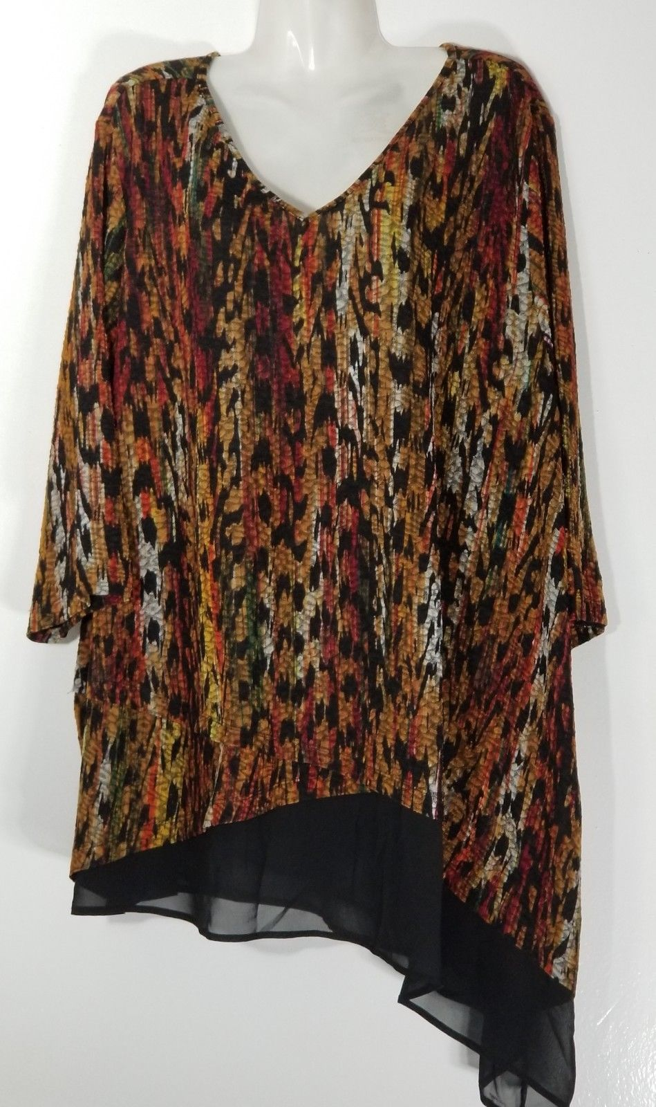 Catherines V Neck Print Top 1x 18 20 Plus And 25 Similar Items