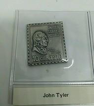 sterling silver John Tyler presidential stamp ingot  - $23.20