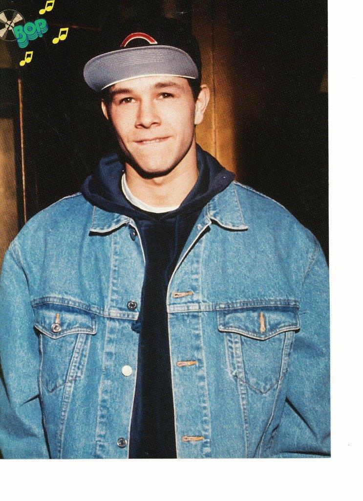 Marky Mark Wahlberg Andrew Shue teen magazine pinup clipping jean jacket hat