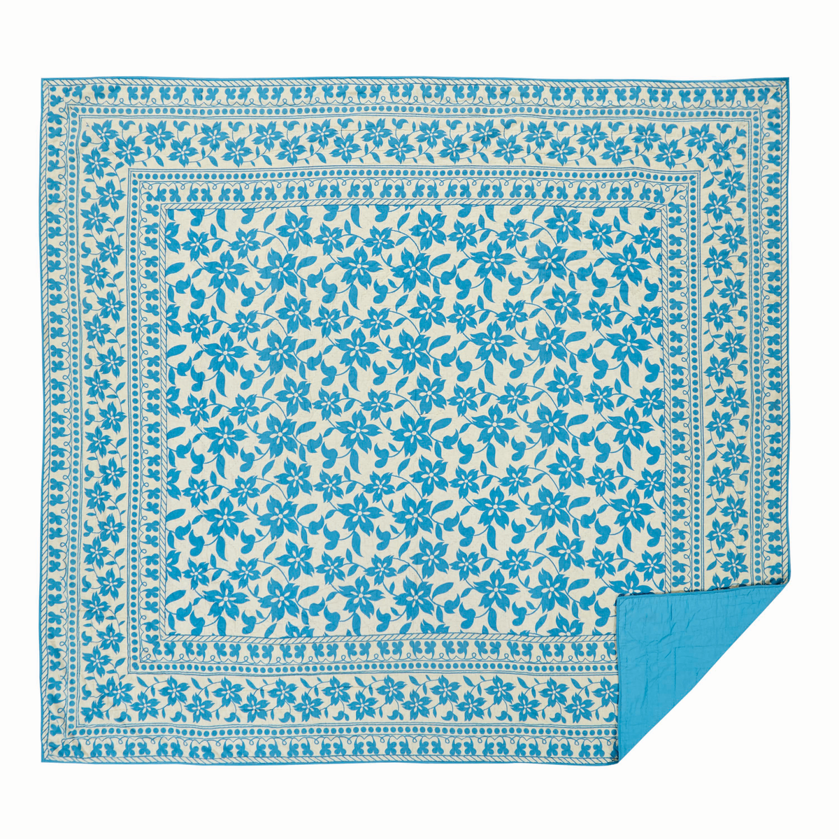 Briar Azure California King Quilt - Patchwork - Sale Priced - $25 Off - Vhc