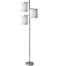 Adesso 4152-22 Floor Lamps Brushed Steel Metal Bellows - $130.00