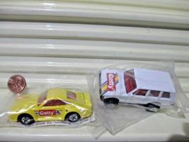 Mattel Hot Wheels 1991 GETTY Set Porsche 959, Range Rover Nu in Sealed P... - $19.75