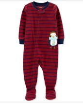 Carter's Baby Boys 1-Pc. Striped Penguin Fleece Footed Pajamas Choose Sizes - $12.99