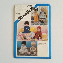 """Simplicity 6481 Baby Doll Clothes Patterns 13""""  6 outfits Tiny Tears Unc... - $6.43"""
