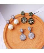Crystal Earrings Jewelry aliexpress Fashion Geometric Earrings Women Bri... - $12.47