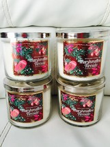 4 Bath & Body Works Marshmallow Fireside 14.5 OZ 3 Wick Large Candle - $59.35