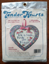 Handle With Prayer Counted Cross Stitch in a Calico Frame Dimensions kit 71015 - $13.86
