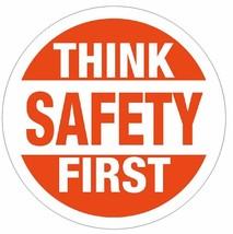 Think Safety First Hard Hat Decal Hard Hat Sticker Helmet Safety Label H11 - $1.79+