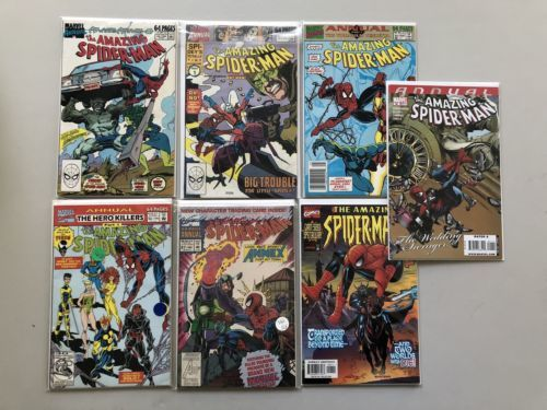 Lot 7 Amazing Spider-Man 1963 1st Series Annual 23-27 1999 (2nd) 36 VF Very Fine