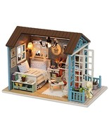 Rylai 3D Puzzles Wooden Handmade Miniature Dollhouse DIY Kit w/ Light-Fo... - $25.20