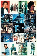 """STAR WARS 23 x 35 """"The Empire Strikes Back"""" 1980 Reproduction Collage Po... - $45.00"""