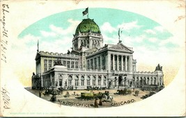 Vtg Postcard 1907 UDB Chicago Illinois IL - New Post Office - Early Curt Teich - $8.95