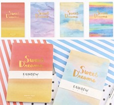 ☆Rainbow Watercolor A5 Hardcover Blank Notebook ✧'Sweet Dreams'✧ Foil Le... - $14.99