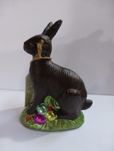 """Faux Chocolate Easter Bunny Rabbit with Colorful Easter Eggs 5.75"""" New - $15.83"""