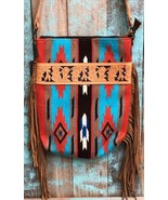 American Darling Rust Serape Saddle Blanket Tote w/Fringe - $114.99