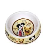 """Dog Food Bowl Plastic 7"""" Yum Dalmatian Bulldog Bone NEW - $9.99"""