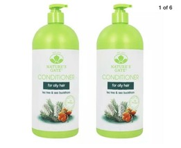(2) Natures Gate Conditioner Tea Tree Sea Buckthorn 18 Fl Oz For Oily Hair - $59.95