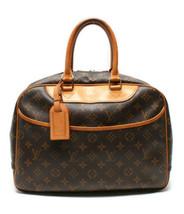 Auth Louis Vuitton Monogram Handbag Brown Leather Zipper Inner Pockets L... - $510.84